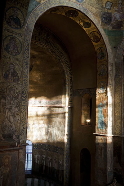 Foto di Rich frescoes inside Saint Sophia cathedralKiev - Ucraina