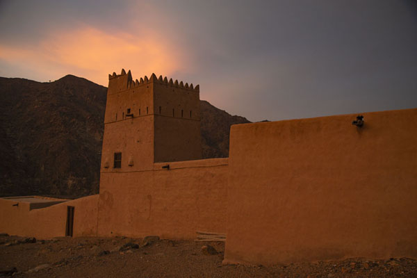 Picture of Al-Hayl Fort (United Arab Emirates): Warm sunset light shining over Al-Hayl Fort
