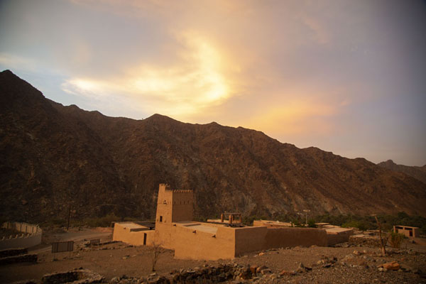 Picture of Al-Hayl Fort (United Arab Emirates): Sunset over Al-Hayl Fort