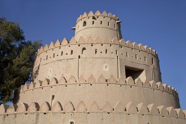 Picture of Al Jahili fort (United Arab Emirates): The round tower of the fort