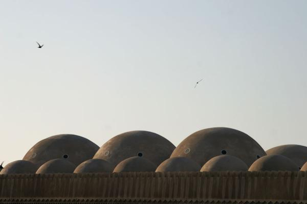 Picture of Dubai mosques (United Arab Emirates): Cupolas of Grand Mosque just before sunset in Bur Dubai