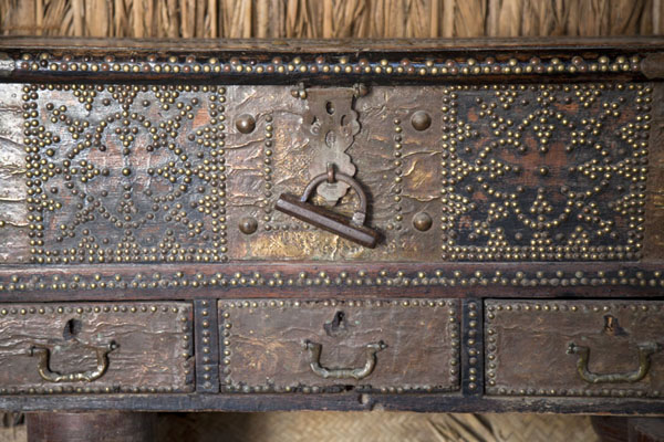 Close-up of a heavily decorated traditional coffer | Dubai Museum | United Arab Emirates