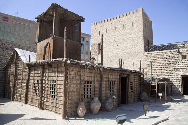 Traditional house in the courtyard of the museum | Dubai Museum | United Arab Emirates