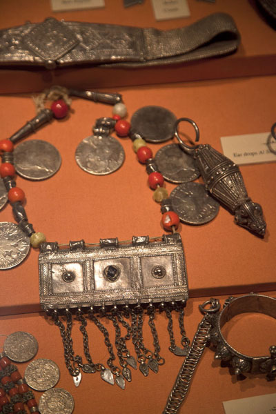 Various kinds of jewellery in the museum | Dubai Museum | United Arab Emirates