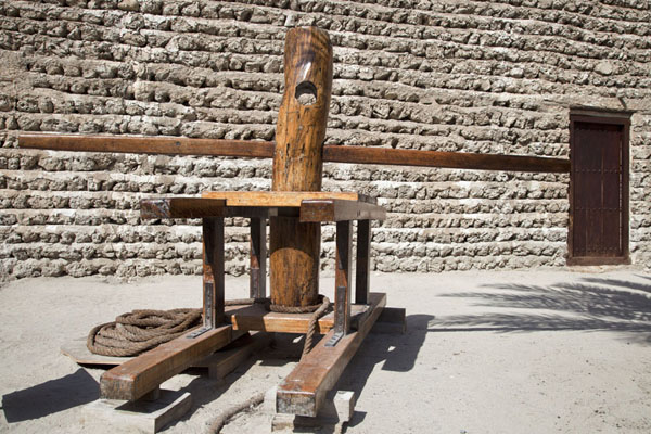 Dawar shani: a wooden device used to pull boats from the sea | Dubai Museum | United Arab Emirates