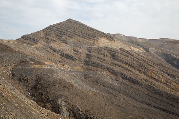 Foto van The rocky mountain of Jebel JaisJebel Jais - Verenigde Arabische Emiraten