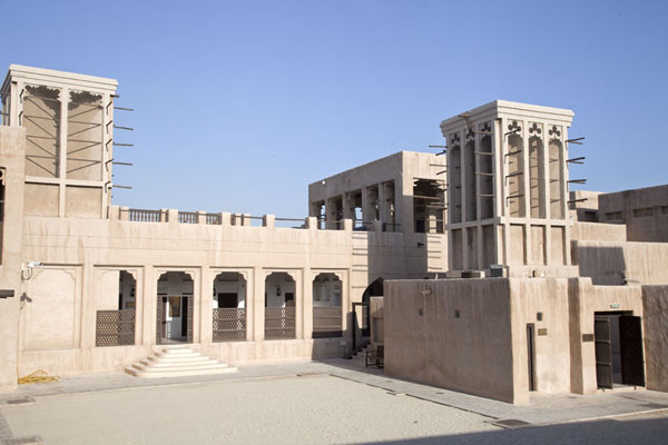 Picture of Sheikh Saeed al-Maktoum House (United Arab Emirates): Courtyard with wind towers