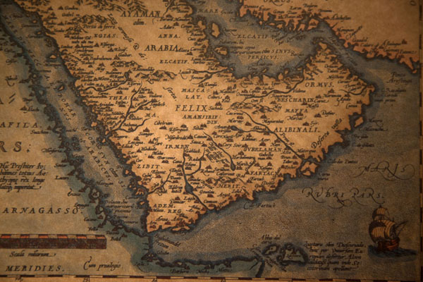 go to previous picture picture of arabian peninsula as it appears on one of the old maps in the map