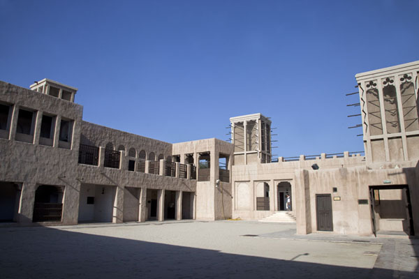 Picture of Sheikh Saeed al-Maktoum House (United Arab Emirates): Wind towers stand around the courtyard of the house