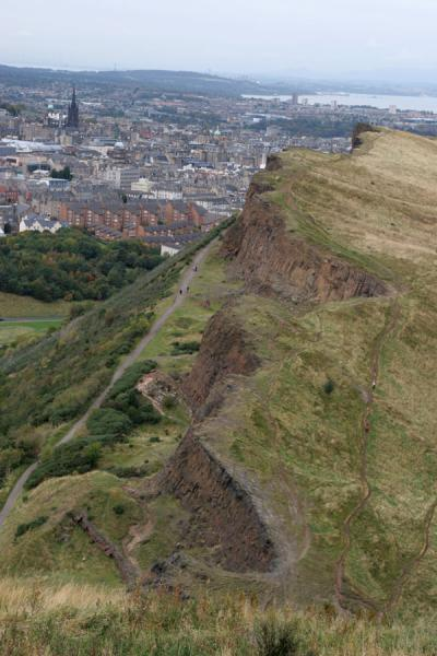 The ragged Salisbury Crags on the western edge of Arthur's Seat | Arthur's Seat | United Kingdom