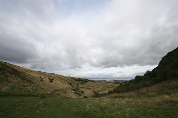 Picture of View over the interior of the ancient crater of Arthur's SeatEdinburgh - United Kingdom