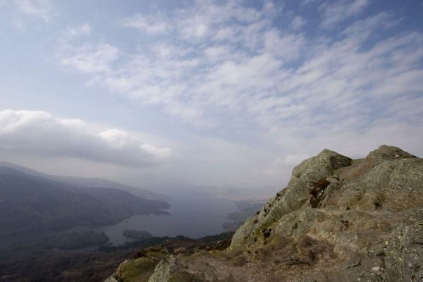 Rocks at the summit of Ben A'an and Loch Katrine | Ben A'an | United Kingdom