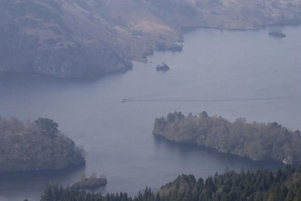 Boat on Loch Katrine seen from Ben A'an | Ben A'an | United Kingdom
