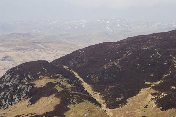 Picture of Remnants of snow left on the highest mountains seen from Ben A'an