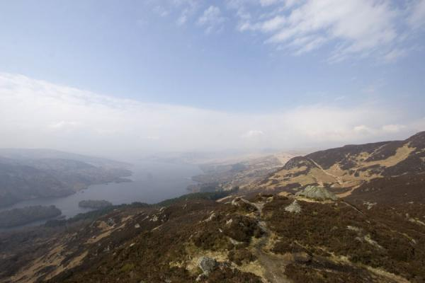 Friendly landscape of the Trossachs with Loch Katrine | Ben A'an | United Kingdom