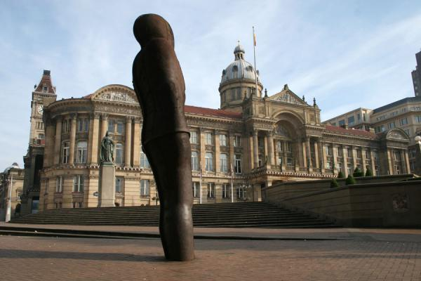 Modern statue on Victoria Square with Council House in the background | Birmingham | United Kingdom