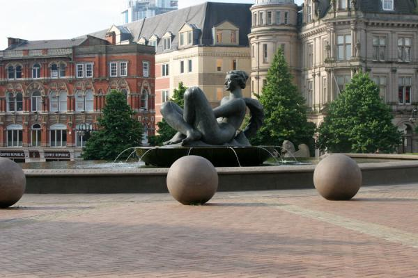 Fountain in front of Council building on Victoria Square | Birmingham | United Kingdom