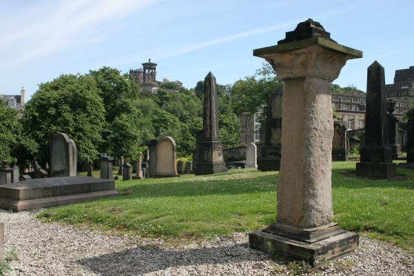 Picture of Edinburgh: cemetery on Calton Hill
