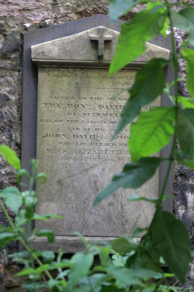 Picture of Edinburgh: tombstone of David Hume on Calton Hill cemetery