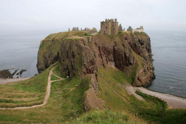Dunnottar Castle defiantly on its rock | Dunnottar Castle | United Kingdom