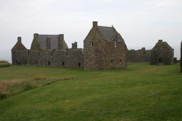 Some of the stately buildings at Dunnottar Castle | Dunnottar Castle | United Kingdom