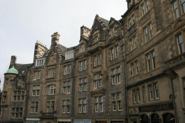 Picture of Edinburgh: stone houses on Bank, a sidestreet of the Royal Mile