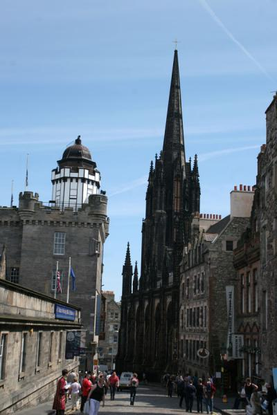 Picture of Edinburgh Old Town (United Kingdom): Edinburgh: looking down into the Royal Mile