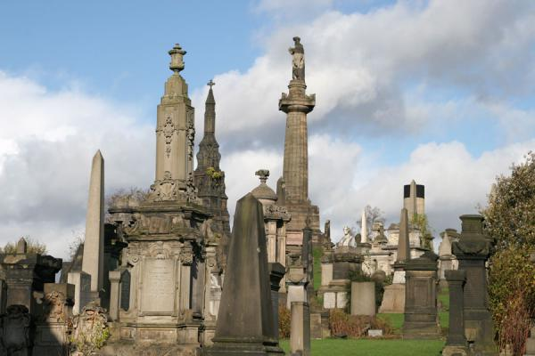 Tombstones at Glasgow Necropolis | Glasgow Cathedral | United Kingdom