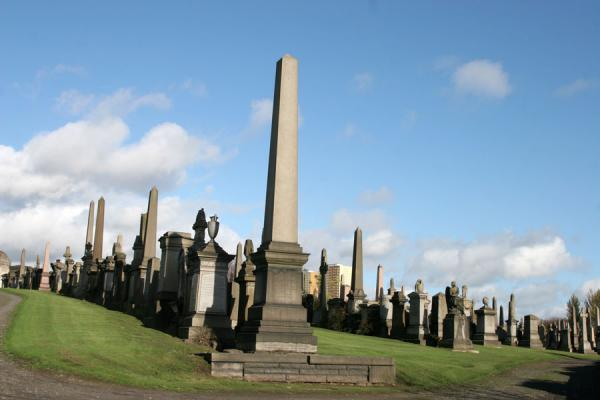 Picture of Glasgow Necropolis is a large collection of obelisks