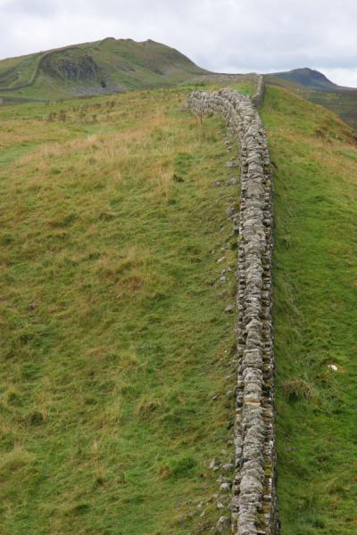 View on Hadrian's Wall from a hill | Hadrian's Wall | United Kingdom