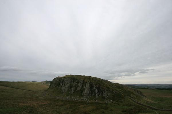 View on rocky hills on which Hadrian's wall runs | Hadrian's Wall | United Kingdom