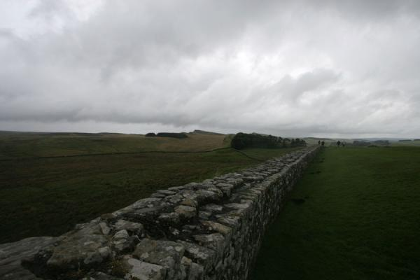 Picture of Hadrian's Wall (United Kingdom): Hadrian's Wall in a grey Northumberland landscape
