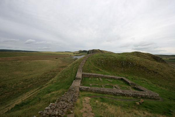 Picture of Hadrian's Wall (United Kingdom): Remains of milecastle 39, built for patrolling the wall
