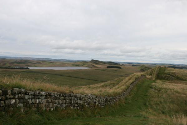 Hadrian's Wall meandering through Northumberland landscape | Hadrian's Wall | United Kingdom