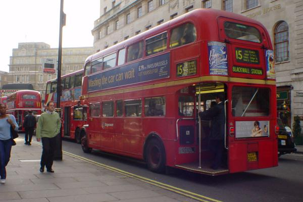 Red rules the streets | London Double deckers | United Kingdom