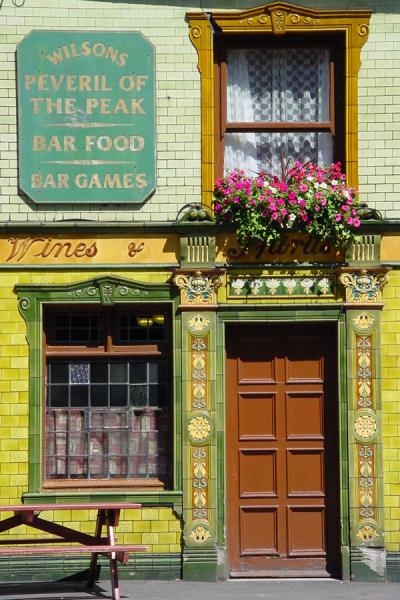 Door of pub in the southern part of Manchester | Manchester | United Kingdom