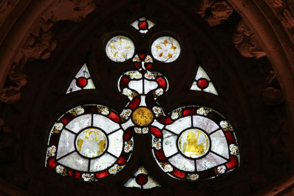 Picture of Stained glass window in Rosslyn Chapel