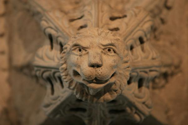 Lionhead carved on a pendant in Rosslyn Chapel | Rosslyn Chapel | United Kingdom
