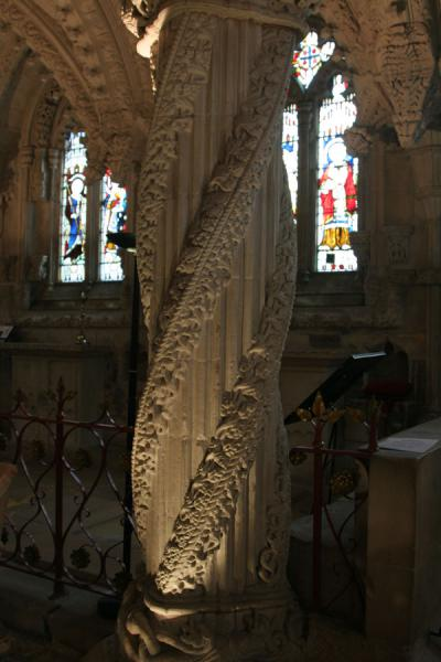 Apprentice Pillar in Rosslyn Chapel | Rosslyn Chapel | United Kingdom