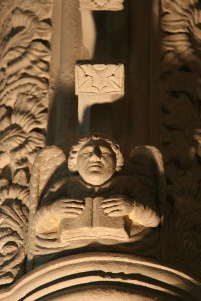 Close-up of one of the many sculptures in Rosslyn Chapel | Rosslyn Chapel | United Kingdom