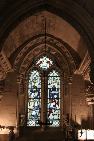 One of the windows of Rosslyn Chapel | Rosslyn Chapel | United Kingdom