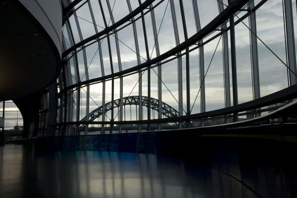 View on the Tyne Bridge from inside the Sage Gateshead | Sage Gateshead | United Kingdom
