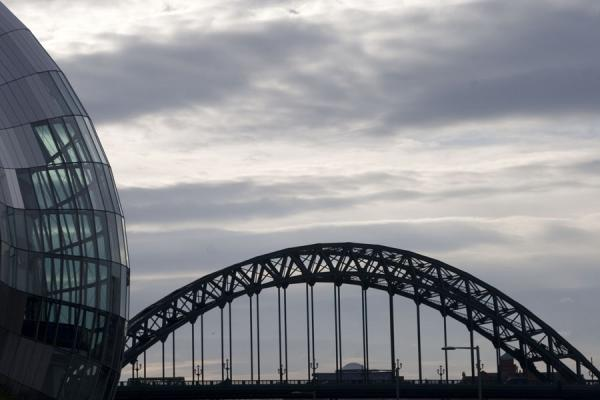 Sage Gateshead and Tyne Bridge at dusk | Sage Gateshead | United Kingdom