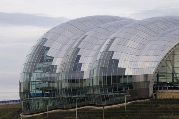 Side view of the Sage Gateshead musical theatre | Sage Gateshead | United Kingdom