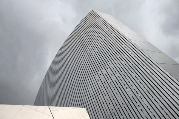 Picture of Salford Quays (United Kingdom): Imperial War Museum North: looking up the tower or Air Shard