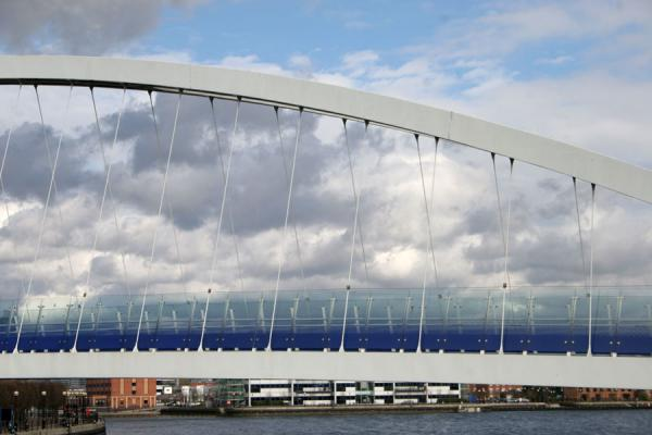 Close-up of footbridge over the Manchester Ship Canal | Salford Quays | United Kingdom