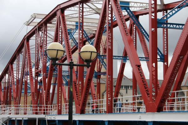 Picture of Detroit bridge over Erie and Huron Basin in Salford Quays
