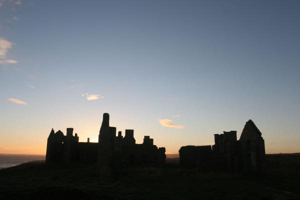 Picture of Slains Castle (United Kingdom): Contours of Slains Castle just before sunset
