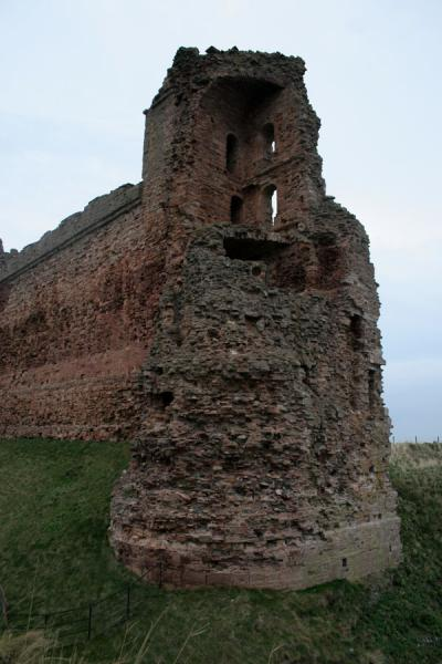 Remains of the wall of Tantallon Castle | Tantallon Castle | United Kingdom