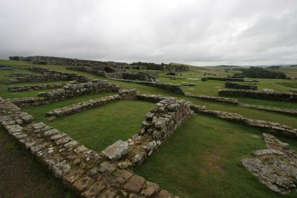 Picture of Ruins of the Roman barracks at VercoviciumHousesteads - United Kingdom
